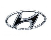 1 PCS Car Motor Chrome 3D ABS-plastic Badge Emblem Sticker Hyundai Steering Wheel Hood Bumper Pillar  Spray Paint