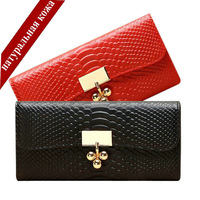 Snake Clutch Wallet Female New 2014 Genuine Leather Fashion Long Designers Brand For Woman Business Card Holder Clips Purses Red