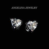 FREE SHIPPING~New Jewelry Fashion 925 Silver Sterling Shinning Zircon Sweet Heart Beautiful Earring