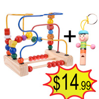 Holiday sale The wooden birds and flowers around the Pearl New Year's gift wooden toys MZ10576