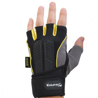 Khuiten High Quality EVA Fitness Sports Gym Gloves mitts Thicken protection Durable Non-slip ( with 30 cm wrist protect )