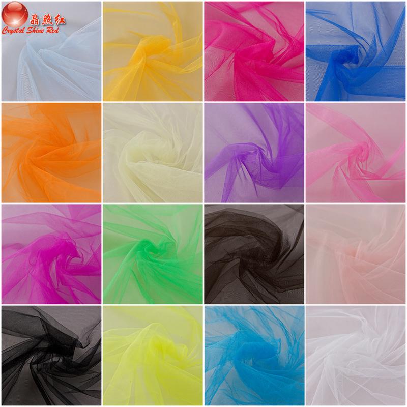 Decorated Netting fabric mesh Gauze hard gauze material wedding dress puff skirt wedding dress 1.65M wide(China (Mainland))