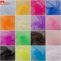 Decorated Netting fabric mesh Gauze hard gauze material wedding dress puff skirt wedding dress 1.65M wide