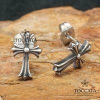 Fashion vintage cross flower male stud earring bigbang stud earring gd titanium male accounterment accessories