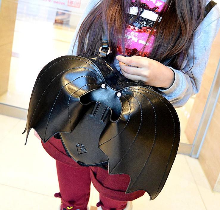 Bat Heart Backpack Bag Backpack Bat Wings