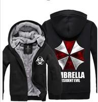 Resident Evil Umbrella Thicken Coat Jacket Hoodie Sweatshirt thermal fleece
