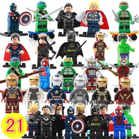 100% good Avengers Super heroes Ninja Turtle Iron Man Batman/Thor/Captain America/Spider man Star wars Building block dolls