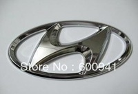 1 PCS 14.5CM Car Motor Chrome 3D ABS-plastic Badge Emblem Hyundai I30 Hood Bumper Pillar  Spray Paint