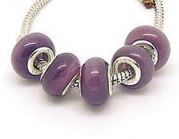 Min.order is $10( mix order )10pcs Cat's Eye Stone European Bead fit Charm Bracelet  9