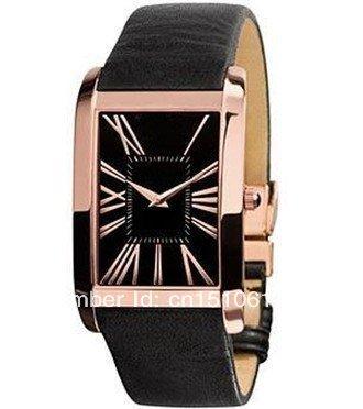 100% Authentic! +HOT NEW Super Slim Leather Mens Watch AR2034+Original box(China (Mainland))
