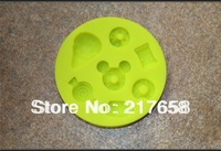 Free Shipping A food grade high tensile plastic yellow fondant cake baking mold diamond flower cookie mold 0143