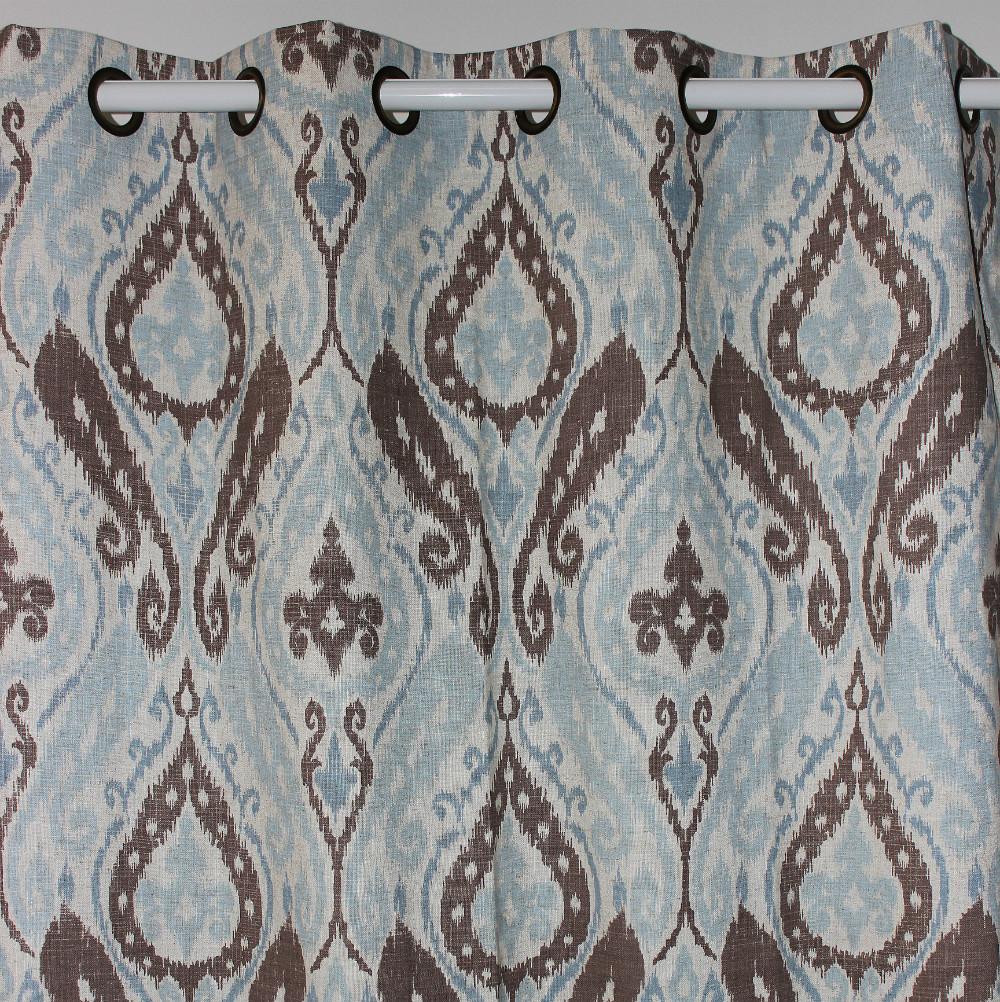 """Nuovo arrivo ingrosso luce blu paisley tende di lino per porta finestra camera da letto soggiorno per negozi outdoor home decor 51""""*98"""""""