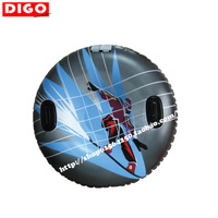 Thickening single wear-resistant circle inflatable skiing circle skiing board skiing sled skiing pad
