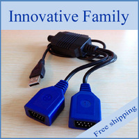 Retro-bit for Genesis and for Mega Drive Controller to PC USB Dual Port Adapter Cable