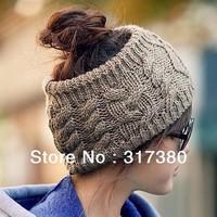 Wholesale 10pcs Women Knit Headbands Beanie Womens Spring Crocheted Hair Band Fashion Ladies Winter Headgear Autumn Accessories