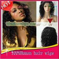 Hotselling! Fashion Kinky Curly Hair Natural Hairline Full Lace Wig & Front Lace Wig Brazilian Human Hair For Black Women