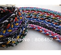 Wholesale Free shipping 20pcs 3 Ropes Tornado Germanium Necklace Sports necklace Triple Braid Necklace