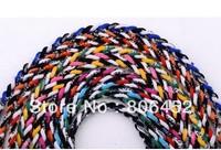 Wholesale 10pcs 3 Ropes Tornado Germanium Necklace triple Sports necklace Triple Braid Necklace