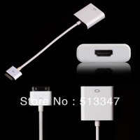 New Dock Connector to AV HDMI TV Adapter Cable for iPad 2 3 for iphone 4 for iPod Free Shipping