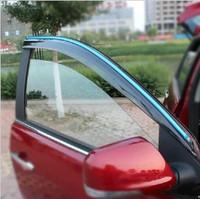 Semitransparent Injection PC Window Visor Deflector Sun Shade Rain Guard Flexible Vent Peak Shield for Emgrand EC7 / EC7RV