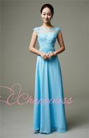 Free Shipping V neck spaghetti straps Prom Dresses Chiffon SLD24945