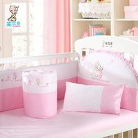 100% cotton baby bedding set of six pieces unpick and wash baby bedding kit 100% cotton baby bed around