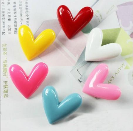2014 Nova Rosa da forma do coração ima de geladeira , Ímã Mini baratos adesivos(China (Mainland))