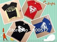 New boys superman t shirt batman t-shirts kids cool tops children wear for about 2-7 years