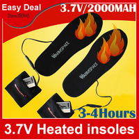 WARMSPACE 3.7V Heating Insole With Rechargeable 2000MAh Li-ion Battery For Winter Outdoor Free Shipping