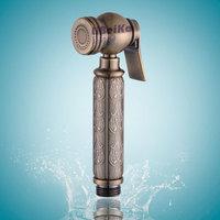 Vintage antique bronze color carved bidet nozzle spray gun shower copper the whole network