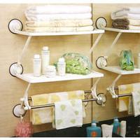 Magic ring dual shelf multi-layer cabinet bathroom towel rack