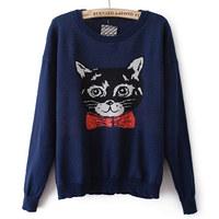 Female fashion pullover sweater
