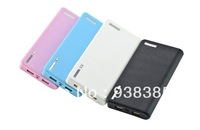 12000MAH Wallet Style Portable Dual USB Power Bank External Battery Charger for Apple iPhone iPad HTC Samsung Nokia Mobile Phone
