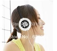 2014 new Various Colors Winter Warm Plush Headphone Furry Earmuffs Earphone,warm music headphone,Free shipping