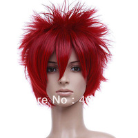 New Short Red Cosplay Fashion Wig Hot Selling HighTemperature Silk