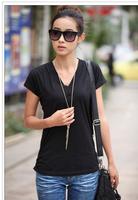 Summer New Fashion Cotton V-Neck For Women Shirts Short Sleeve Loose T Shirt Plus Size XXXXL Tops FR8042