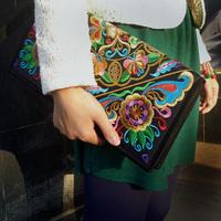 Women's handbag embroidery bag embroidered bag embroidered bag day clutch bag