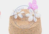 Stud Earrings ear rings Fashion for women Girl's lady white six petal flower grace desgin CN post