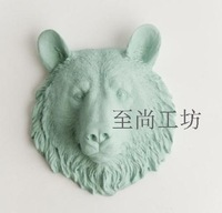 100% Genuine brand Resin wall muons animal head wall decoration Christmas gift birthday gift crafts