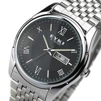 free shipping Ikey vintage male watch fashion waterproof strip quartz watch men's calendar fashion table mens watch