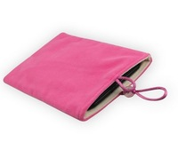 Pink 5.7inch Soft Sleeve Cloth Pouch Velvet Case Cover For Samsung Galaxy NoteII N7100,SAMSUNG 9220,SAMSUNG GALAXY S4 S3