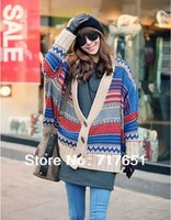 Bohemian Tribal Oversized Knit Bat Sleeve Sweater Coat Knitwear Cardigan