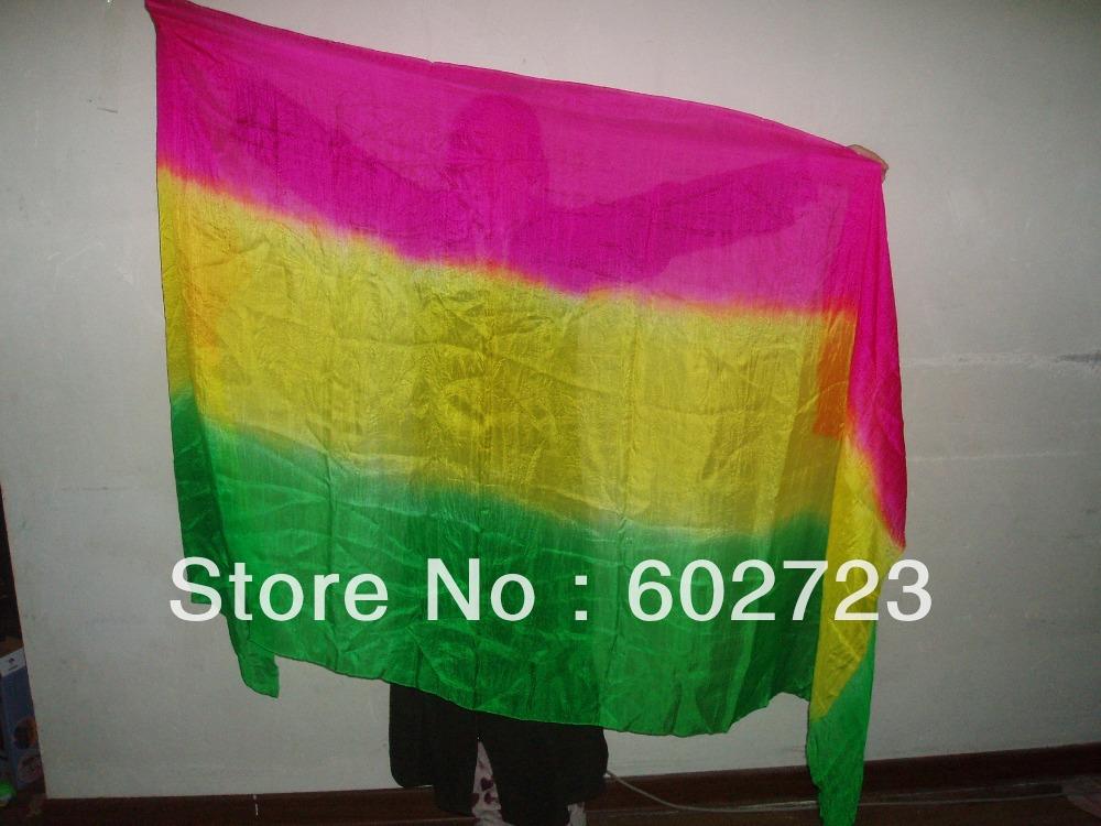 3color hot selling dance veil belly dance silk veil silk veil 100%silk 250 x 114cm(Hong Kong)