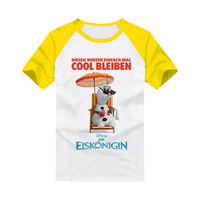 Frozen Movie Olaf  T-shirts  Children's Clothing Apparel & Accessories  with short sleeves Apparel & Accessories