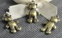 Fashion Jewelry Findings Accessories charm pendant alloy bead Antique Bronze 25*15MM bear shape 60PCS JJA1462
