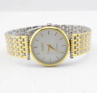 Heat supply fashion gold watch leisure steel belt