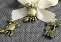 Fashion Jewelry Findings Accessories charm pendant alloy bead Antique Bronze 24*15MM crab shape 60PCS JJA1501