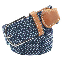 2014 New Fashion Brand Personality Woven  Belts For Women  Elastic Canvas Ladies Strap Men Belt JH18