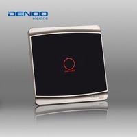 Free Shipping Dano01 Electrical wall light switch waterproof touch switches Smart Home Luxury Black LED Panel 1 gang/1 way