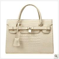 Women's handbag light 2014 fashion bag crocodile pattern handbag messenger bag free shipping